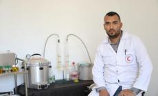 أبو عليان..تغلب على الحصار بأول معمل زيوت بغزة