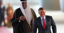 العاهل الأردني وأمير قطر