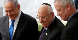 الرئيس الإسرائيلي ونتنياهو وغانتيس