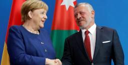 المستشارة الألمانية والعاهل الأردني