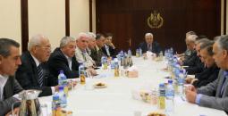 الرئيس عباس وأعضاء المركزية
