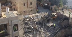 الاحتلال يهدم منزلين جنوب القدس