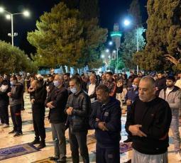 صلاة الفجر الأولى في المسجد الأقصى بعد إغلاق استمر 70 يوماً بسبب جائحة كورونا