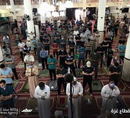 صلاة الجمعة في مساجد غزة وسط إجراءات وقائية مشددة