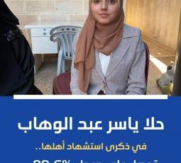 حلا عبد الوهاب .. فقدت أهلها وتفوقت بمعدل 99.6
