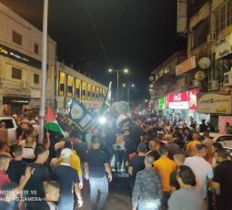 مسيرة تضامنية مع الأسرى في سجون الاحتلال