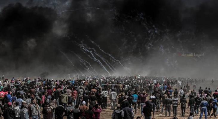 مسيرة العودة شرق غزة