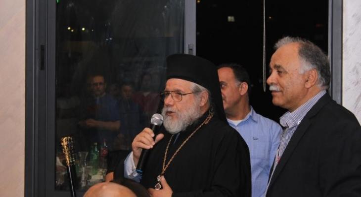 الأرشمندريت الأب عبد الله يوليو راعي كنيسة الروم الكاثوليك برام الله