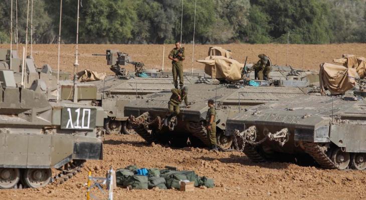 جنود إسرائيليون على حدود غزة