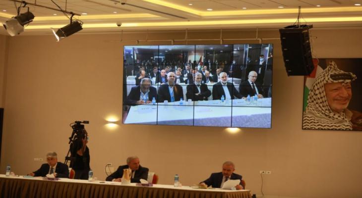 جانب من اجتماع الأمناء العامون في بيروت ورام الله