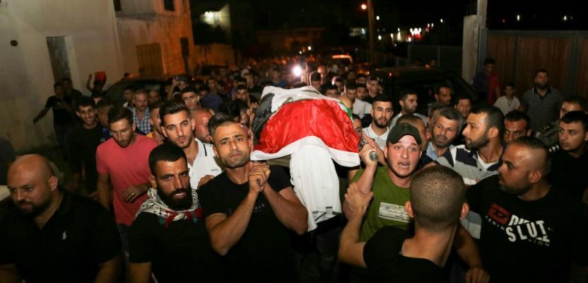 تشييع جثمان الشهيد عمر يونس بقلقيلية