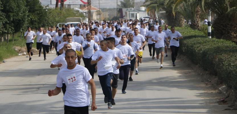 جانب من يوم الجري العسكري العالمي (السيزم) في أريحا.