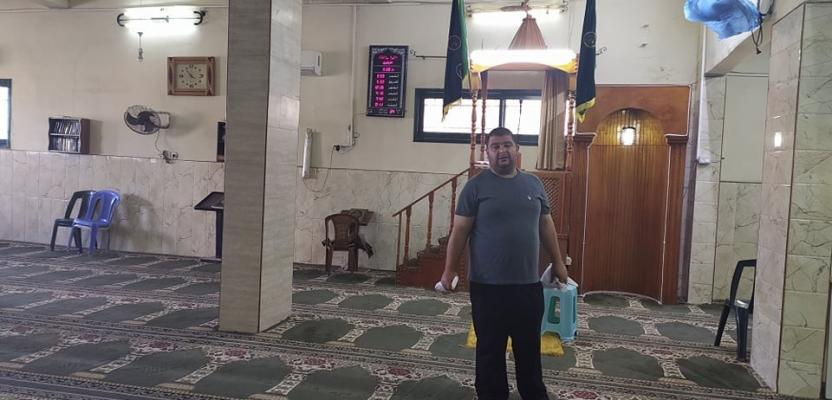 تجهييز مساجد نابلس لاستقبال المصلين