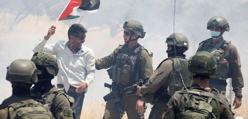 إصابات بقمع الاحتلال فعالية احتجاجية بنابلس