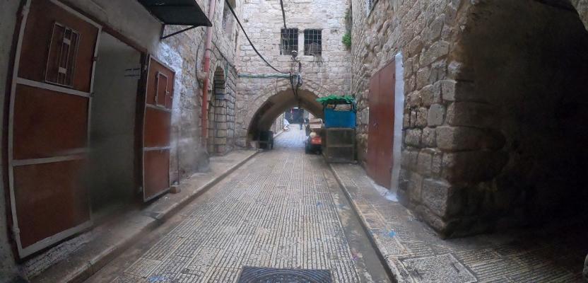 البلدة القديمة في نابلس في ظل الأجواء الماطرة