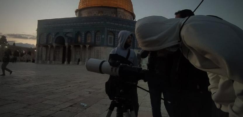 رصد هلال شهر رمضان المبارك من باحات المسجد الأقصى
