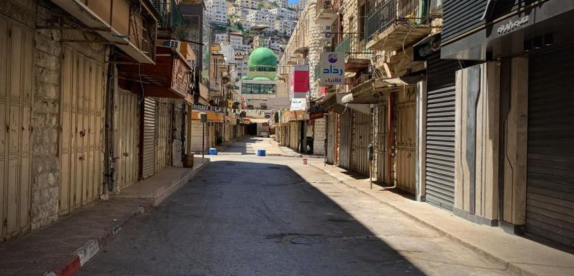 إضراب عام في نابلس تضامنًا مع غزة والقدس